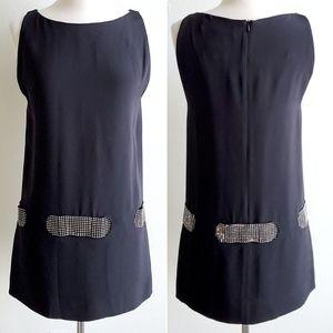 Pierre Cardin Strass Belted Silk Dress